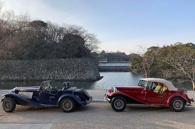 Se esta cena já seria rara no Brasil, imagine no Japão: dois MPs estacionados juntos.