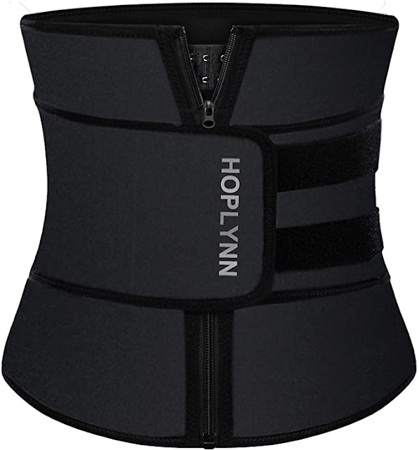 HOPLYNN Neoprene Sweat Waist Trainer Corset Trimmer Belt for Women Weight Loss - trendingshoppingdeals.com