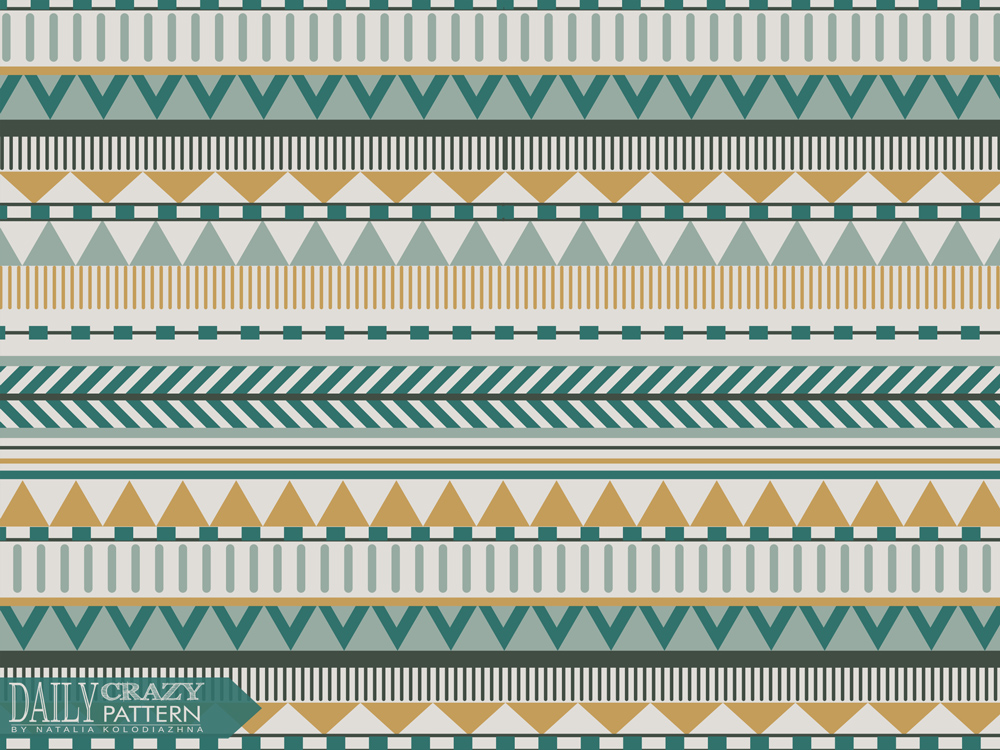"Geometric art print, aztec pattern for ""Daily Crazy Pattern"" project"
