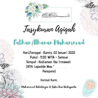 Undangan aqiqah Fath
