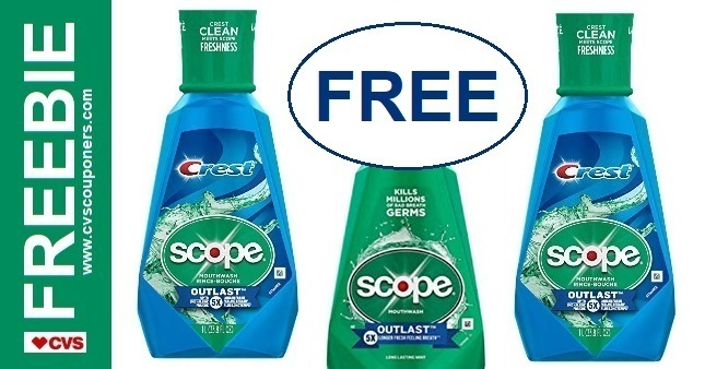 FREE Scope CVS Couponers Deal 12-29-1-4