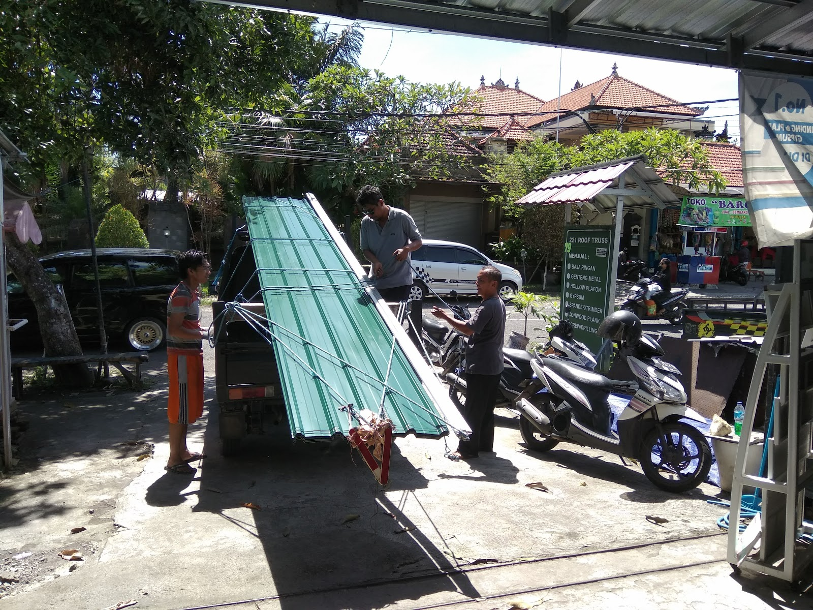 Harga Atap Baja Ringan Lapis Pasir Genteng Metal Colour Bali Profil C