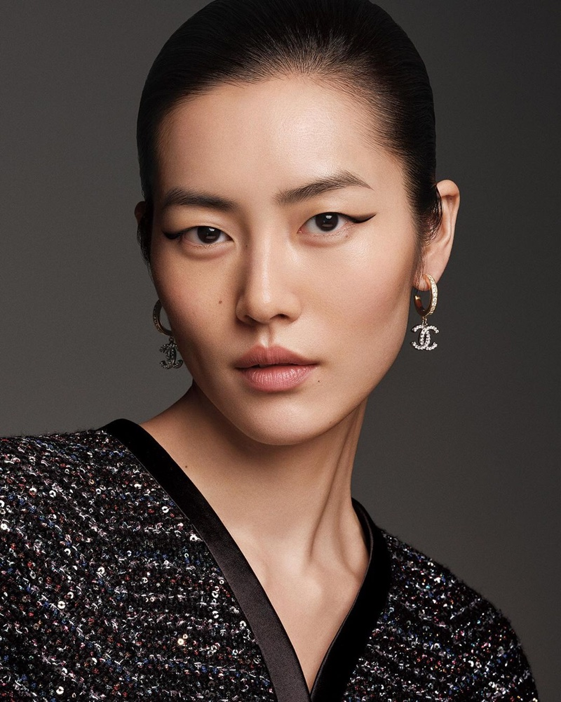 Liu Wen stars in Chanel Colours of Chanel makeup campaign.