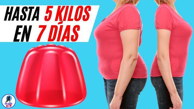 Baja Hasta 5 KILOS en 7 DÍAS con la Dieta de la Gelatina