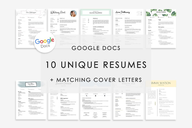 TOP 10 Google Docs resume Template Download