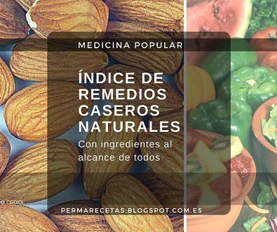 Indice de Remedios Caseros y Naturales