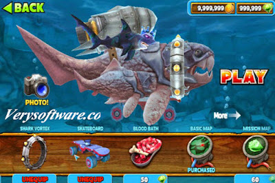 Hungry shark evolution v4. 5. 0 mod (unlimited money/gem) + link in.