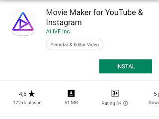 aplikasi editing video android movie maker for youtube instagram