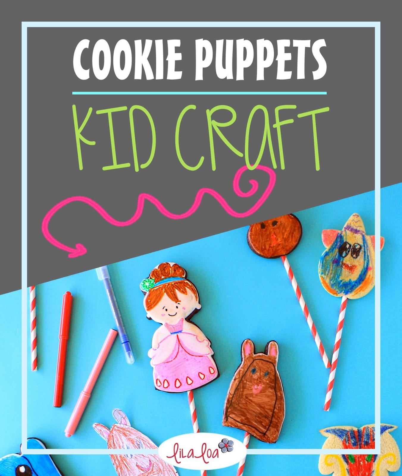 kids cookie decorating craft -- sugar cookie puppets