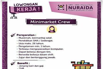 Lowongan Kerja Minimarket Crew Yayasan NIBS