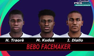 PES 2021 Faces Traore, Kudus & Diallo by Bebo