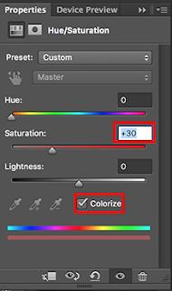 lapisan hue/saturation photoshop