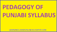 b.ed first year syllabus