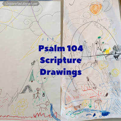 Drawings of Psalm 104 for God Controls The Weather Children's Lesson | scriptureand.blogspot.com