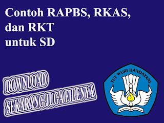 format RAPBS, RKAS, dan RKT untuk SD
