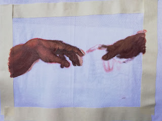 Painting on T-Shirts The Creation of Adam