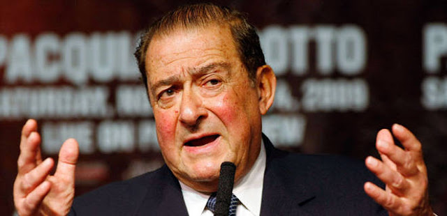 Top Rank promoter Bob Arum against the words of Manny but in favor of Nike's decision