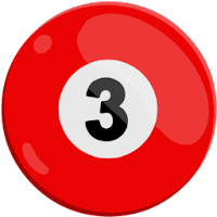 three of solids pool ball