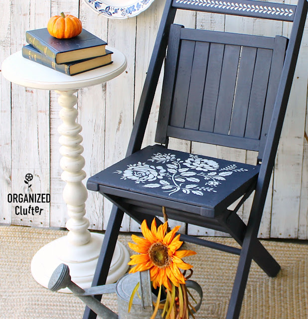 Chair Upcycle Project With Paint and Stencils