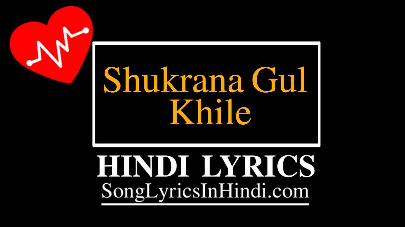 शुक्राना गुल खिले Shukrana Gul Khile Lyrics Hindi - Shikara-Munir Ahmad Mir