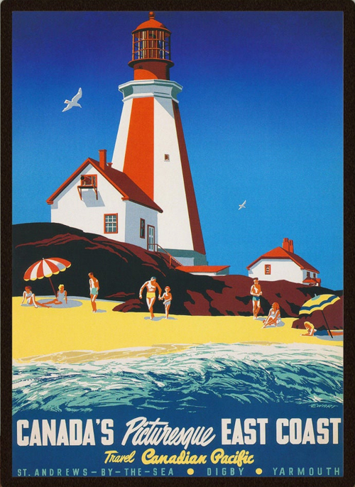 Canada Vintage Coastal Travel Prints Instant Download
