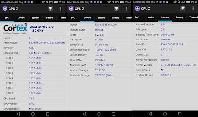 Huawei P9 CPU-Z Info