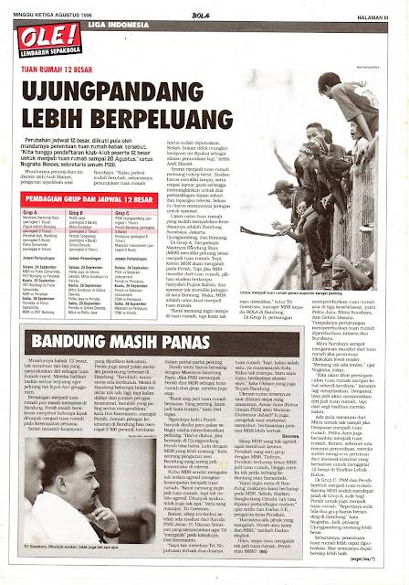 LIGA INDONESIA: TUAN RUMAH 12 BESAR UJUNGPANDANG