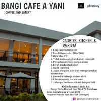 Lowongan Kerja di Bangi Cafe A Yani Surabaya Juni 2021