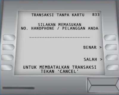 Gambar ATM BCA : Masukan Nomor HP - hostze.net