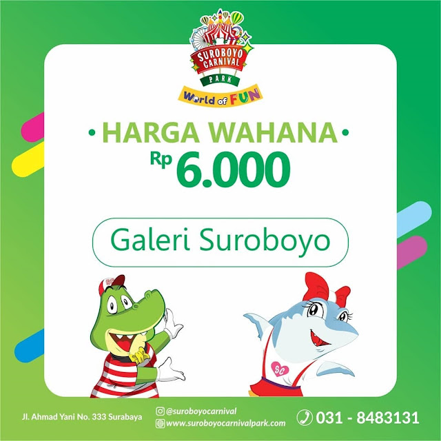 Harga Tiket Masuk Wahana Suroboyo Carnival Park