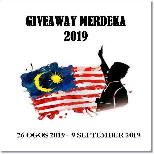 Blog huhahuhajerr, sahabat blogger, giveaway merdeka, giveaway 2019