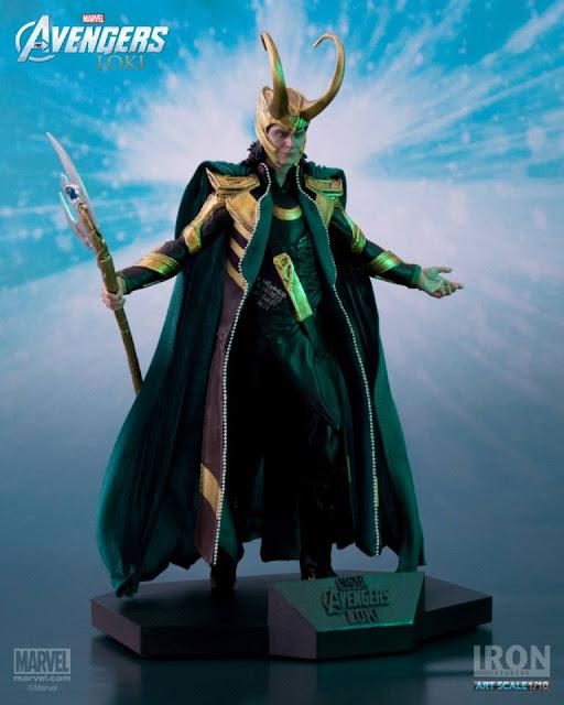 Estátua Loki Iron Studios