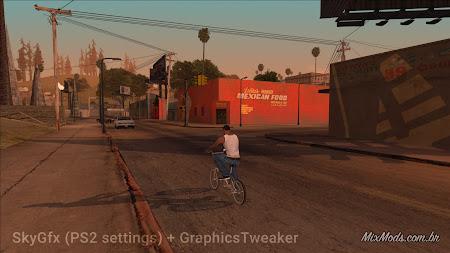 gta sa mod graphics tweaker gráficos hd ps2 skygfx