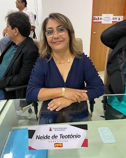 Vereadora Neide de Teotônio tem requerimentos aprovados em seção ordinária na CMG na tarde desta terça-feira