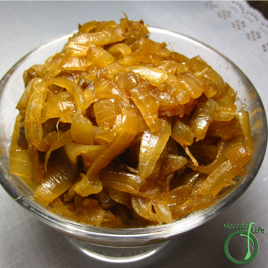 Morsels of Life - Spicy Caramelized Onions - Sweetly smoky caramelized onions with a bit of heat.