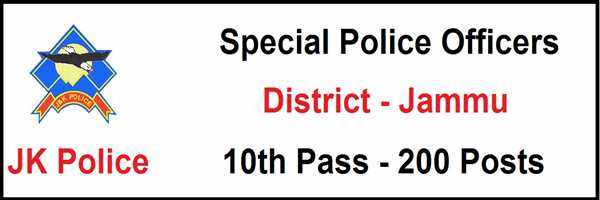 [J&K-Jammu] Special Police Officers