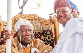Olubadan Distances Self As Ajimobi Installs 24 New Kings Today