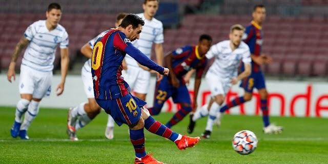 Liga Champions : Barcelona Versus Dynamo Kiev Lionel Messi Tidak Dimainkan