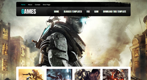 Games Free Premium Gaming Blogger Template
