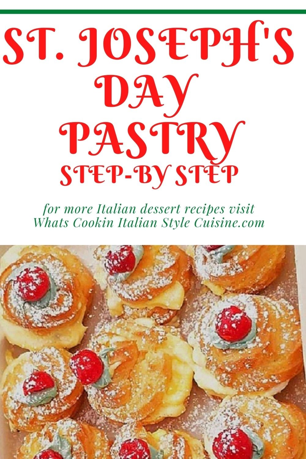 this is a pin for later St. Joseph's Day pastry recipe