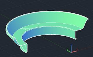 Latihan autocad 3D - perintah sweep membuat bench park