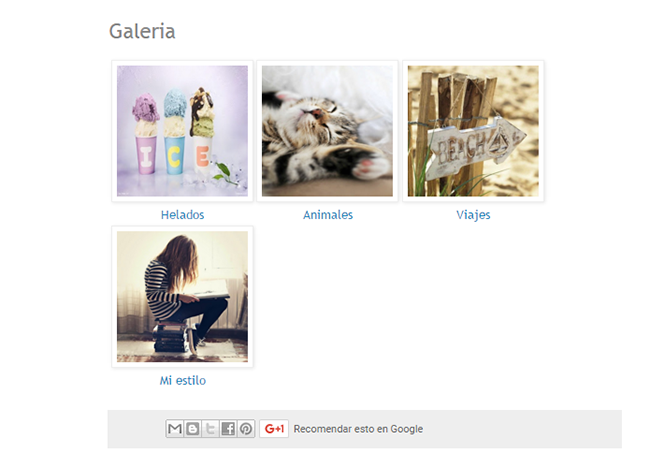 crear galeria imagenes blogger