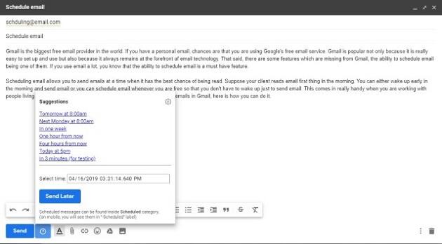 كيفية جدولة رسائل البريد الإلكتروني على Gmail مجانا