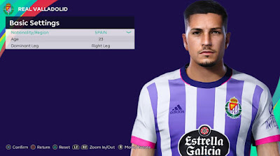 PES 2021 Faces Javier Sánchez by Rachmad ABs