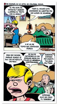 Credo Rose Wilder Lane feminista libertaria de Beter Bagge edita La Cupula comic viñeta