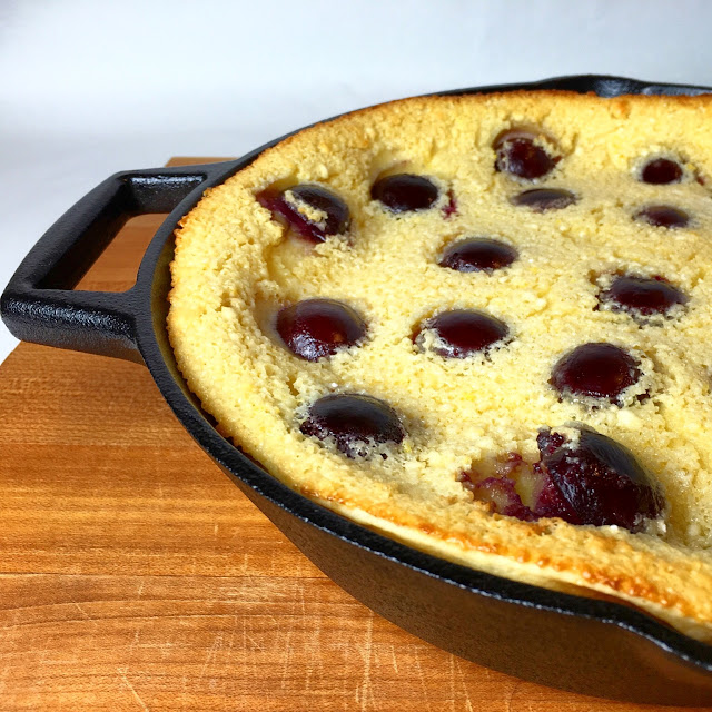 Clafoutis Baked in Cast Iron Pan