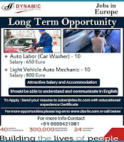 Long Term Job opportunity in Europe