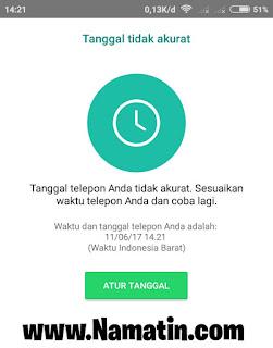 Whatsapp Tanggal Tidak Akurat