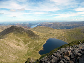 catstycam ullswater and red tarn from helvellyn summit