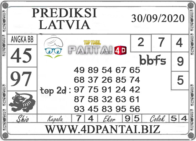 PREDIKSI TOGEL LATVIA PANTAI4D 30 SEPTEMBER 2020